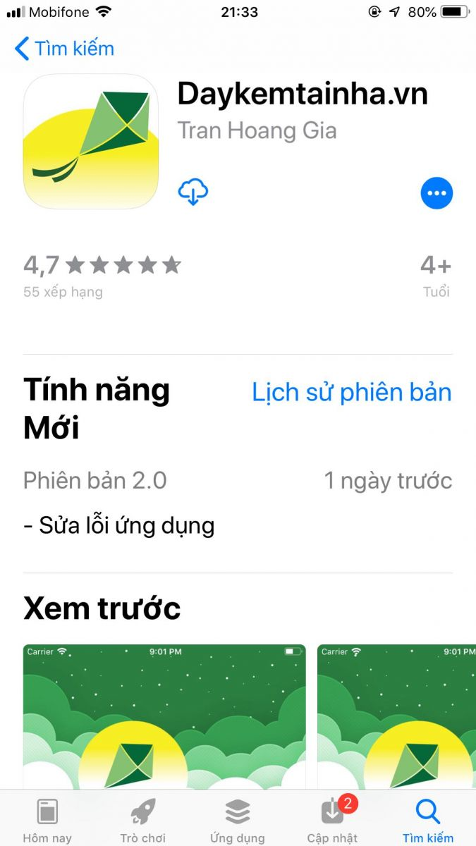 App Daykemtainha